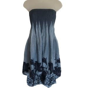 Anthropologie Lapis Convertible Beach Dress Floral